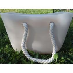 Transparentná silikónová kabelka marhuľová farba