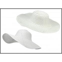 Plážový klobúk biely