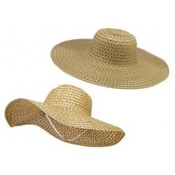 Letný plážový klobúk farba karamelová