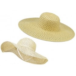 Letný plážový klobúk farba prírodná