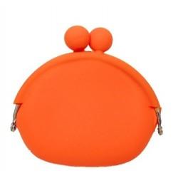 Silikónová peňaženka farba pomarančová