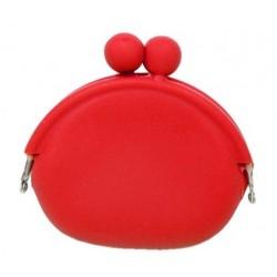 Silikónová peňaženka farba červená