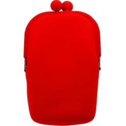 Silikónová kozmetická taštička červená