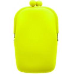Silikónová kozmetická taštička neónová žltá