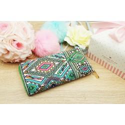 Peňaženka Hra farieb zelená