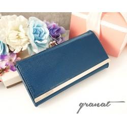 Peňaženka granátovej farby lak