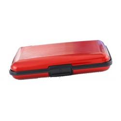 Hliníkové puzdro na doklady červené
