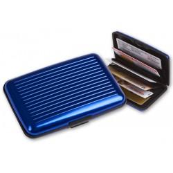 Hliníkové puzdro na doklady modré