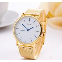 Dámske hodinky zlatej farby s modrým ciferníkom