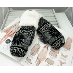 Rukavice na zimu nórsky vzor