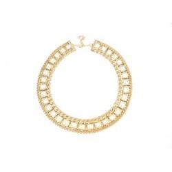 Dámsky náhrdelník zlato-šedej farby