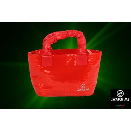 Žiarivá kabelka červená