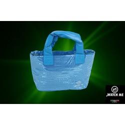 Žiarivá kabelka modrá