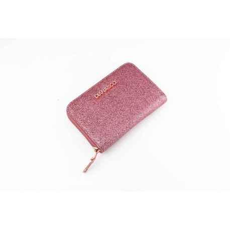 DIANA&CO peňaženka brokátová ružové zlato menšia