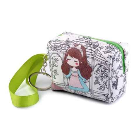 Peňaženka zelený pásik 6,5x9 cm