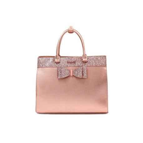 DIANA&CO kabelka brokátová ružové zlato