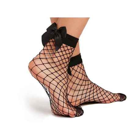 Ponožky kabaretky s mašličkou