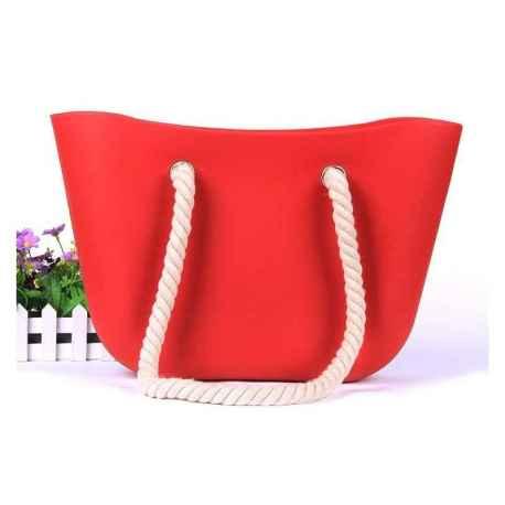 HIT SEZÓNY - štýlová silikónová kabelka červená