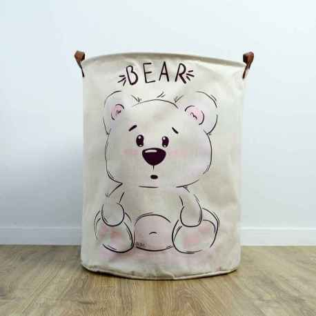 Kôš / organizér na hračny, bielizeň - medveď