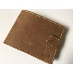 Exkluzívna pánska kožená peňaženka svetlo hnedá 502001  DEEYES