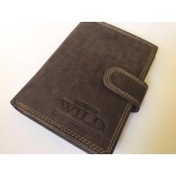 Exkluzívna pánska kožená peňaženka šedo-hnedá 502005  DEEYES
