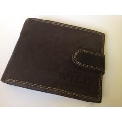 Exkluzívna pánska kožená peňaženka šedo-hnedá 502006  DEEYES