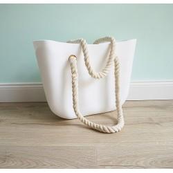 HIT SEZÓNY - štýlová silikónová kabelka bielej farby