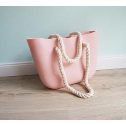 HIT SEZÓNY - štýlová silikónová kabelka púdrová farba