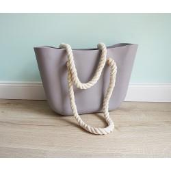 HIT SEZÓNY - štýlová silikónová kabelka sivá
