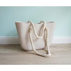 HIT SEZÓNY - štýlová silikónová kabelka béžová
