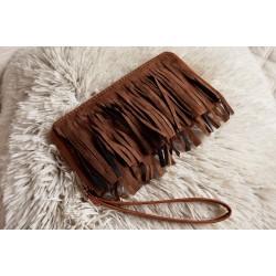 Strapcovitá peňaženka farba hnedá