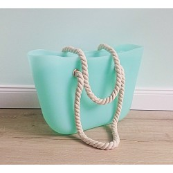 HIT SEZÓNY - štýlová silikónová kabelka farba mäta
