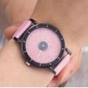 Dámske hodinky disk rúžový