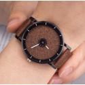 Dámske hodinky disk hnedý