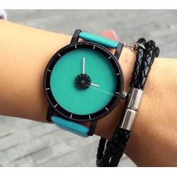 Dámske hodinky žiarivý disk modro-zelený