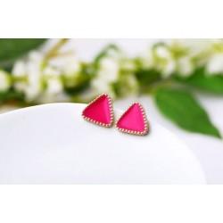 Náušnice Trojuholníčky rúžové